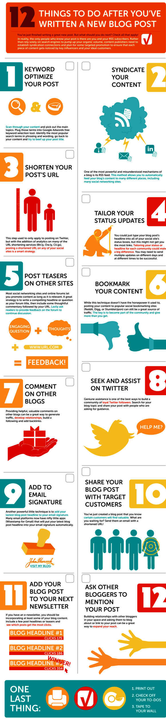 Increase Traffic to your Blog Posts Infographic