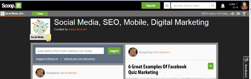 Scoop.it Content marketing idea