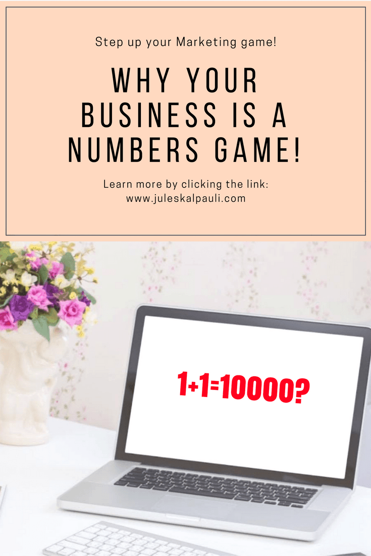 Business and sales are a Numbers Game, but are YOU adding to the right numbers? Are you playing the game right? Do You even keep track of the numbers...?