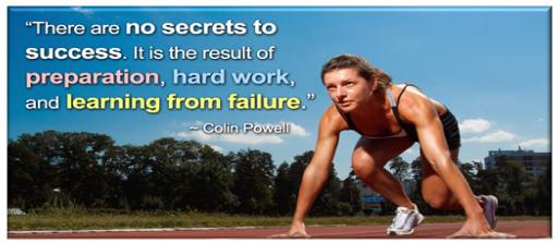 Business success is like athletics, Focus, Grit, A Huge Vision!