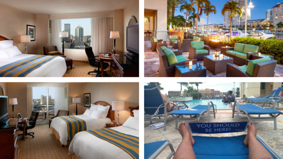 The Marriott Waterside Rooms and poolside! You could spend the day chilling by the pool!