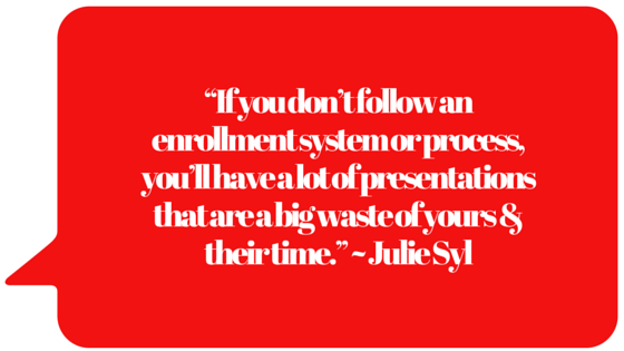 If you dont have or follow the proven enrollment System, you will waste a heck of a lot of time!