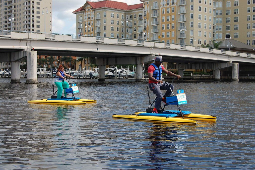 One of the Must Things To Do in Tampa...Water Biking!
