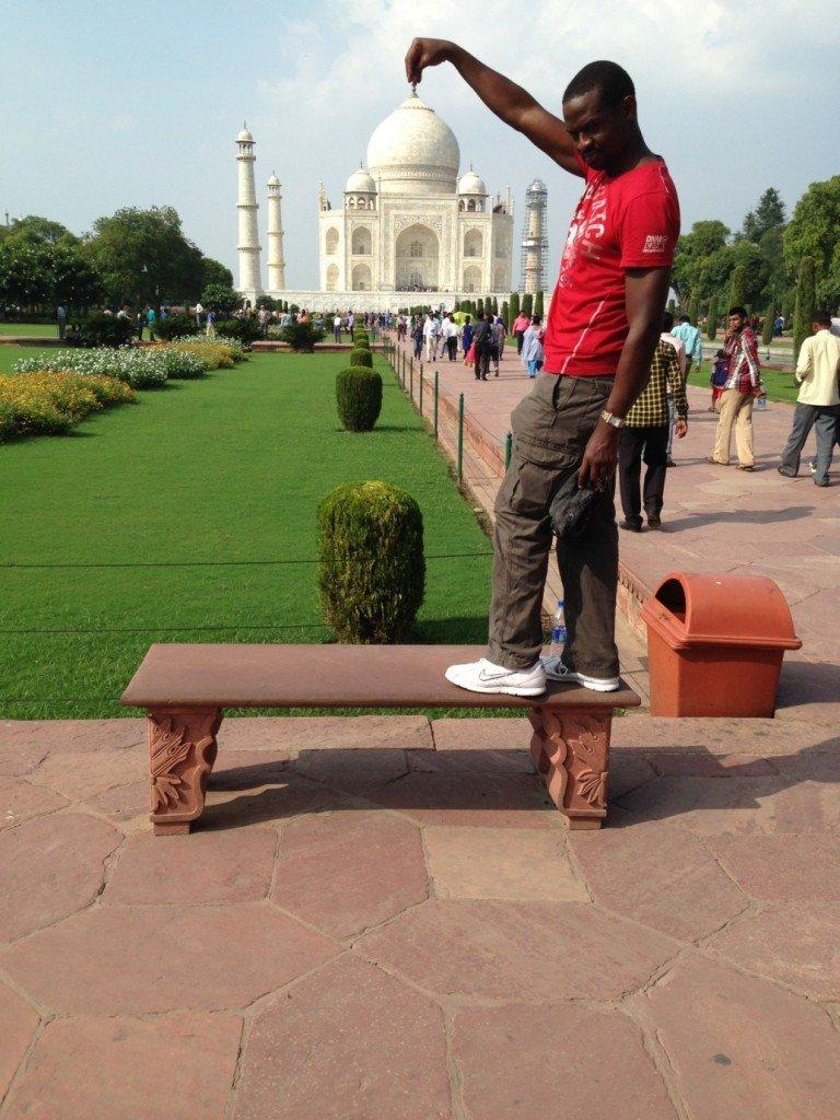 Yes I have the abundance of The Taj Mahal at the Tips of My Hands: :) #paulatthetaj #wolrdventures #bucketlist