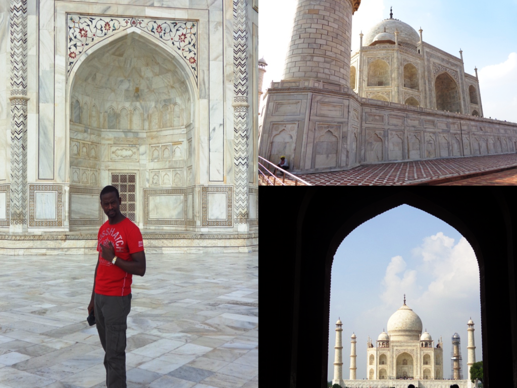 Paul transfixed at the intricate beauty of the taj mahal! #art #awesinspiring #dreamtrip