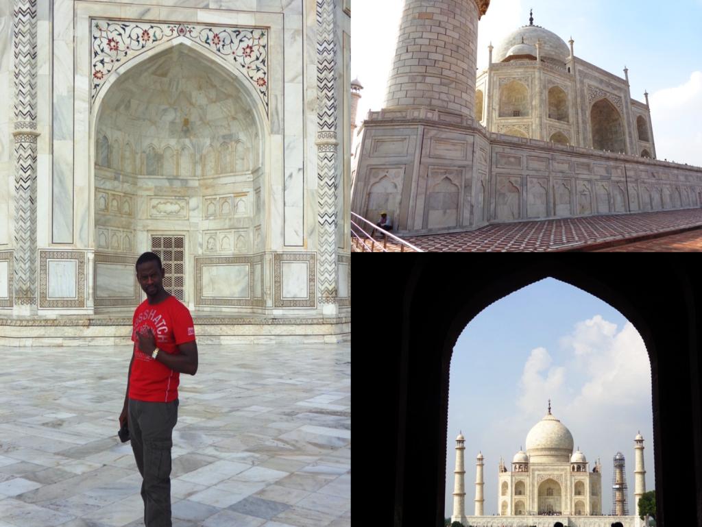 Paul transfixed at the intricate beauty of the taj mahal! #art #awesinspiring #dreamtrip