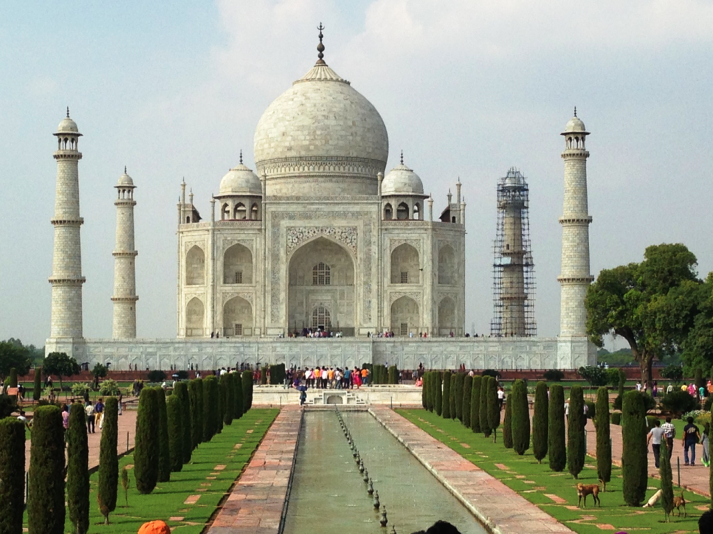 The Taj Mahal in Agra. A Majestic structure, one of The wonders of the world-