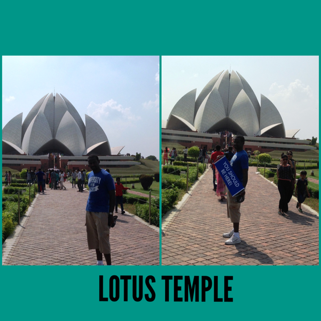 One of the most popular places to visit in New Delhi - The Lotus Temple! #visitnewdelhi