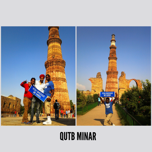 One of the most popular places to visit in New Delhi - Qutb Minar! #visitnewdelhi