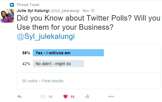Out First of many Twitter Polls Results! #twittersurvey, #twittermarketing