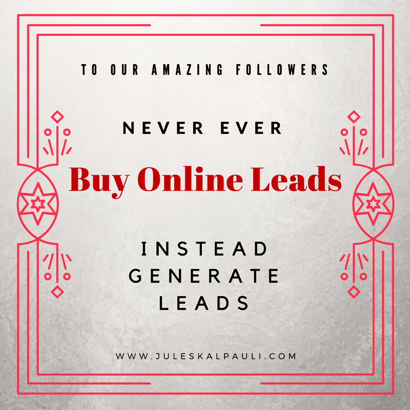 Avoid Buying leads Online - mistake starting a home business!