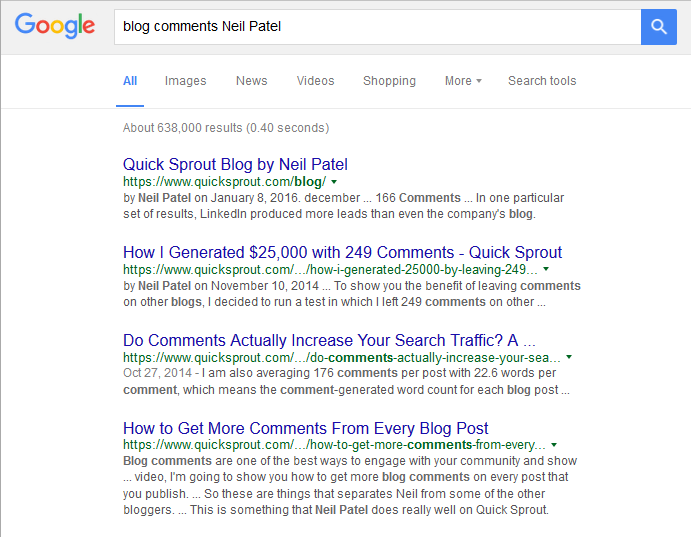 Neil Patel on the power of Blog Comments! #neilpatel