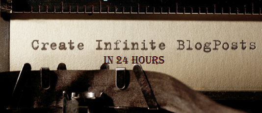 Don't Waste Time! 11 Steps to Create Infinite Blog Posts in 24 Hrs! #creatblogs