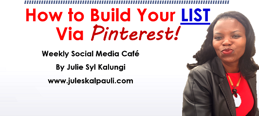 How to Build a List with Pinterest -5 Super Steps! #pinterestmarketing #pintereststrategy