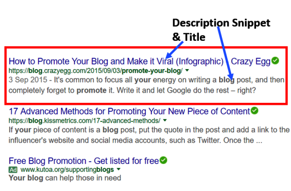 White Hat SEO Tip- Top Blog Descriptions