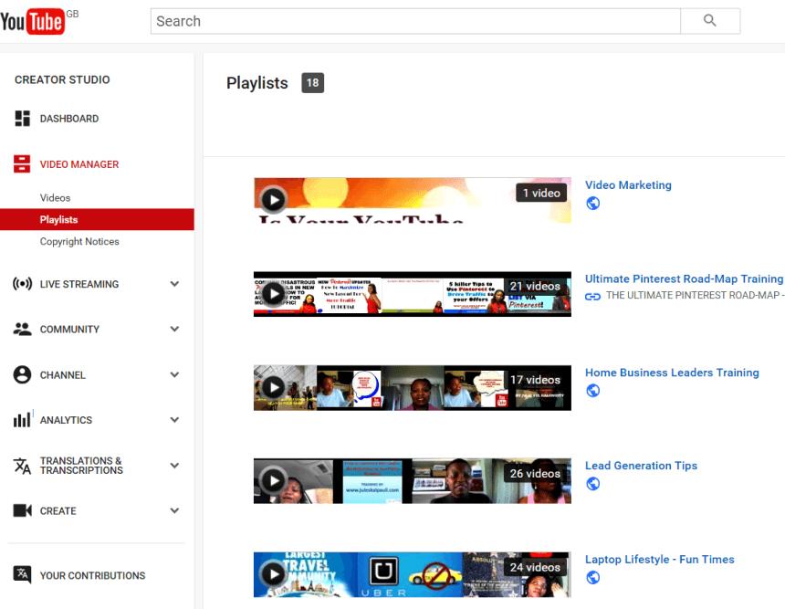 YouTube Video Views -Create Playlists #youtubemarketing