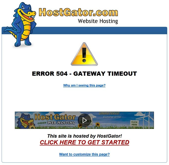 Hostgator User Review by actual Customers - Time out errors