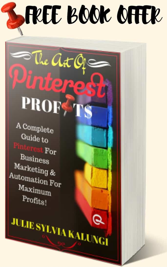 the art of pinterest profits, Complete Guide to Pinterest for Business, Marketing, pinterest for business, pinterest success, pinterest automation for profit, Julie Syl Kalungi book, Julie Syl Kalungi Pinterest expert, … re-pin/save if you love it…