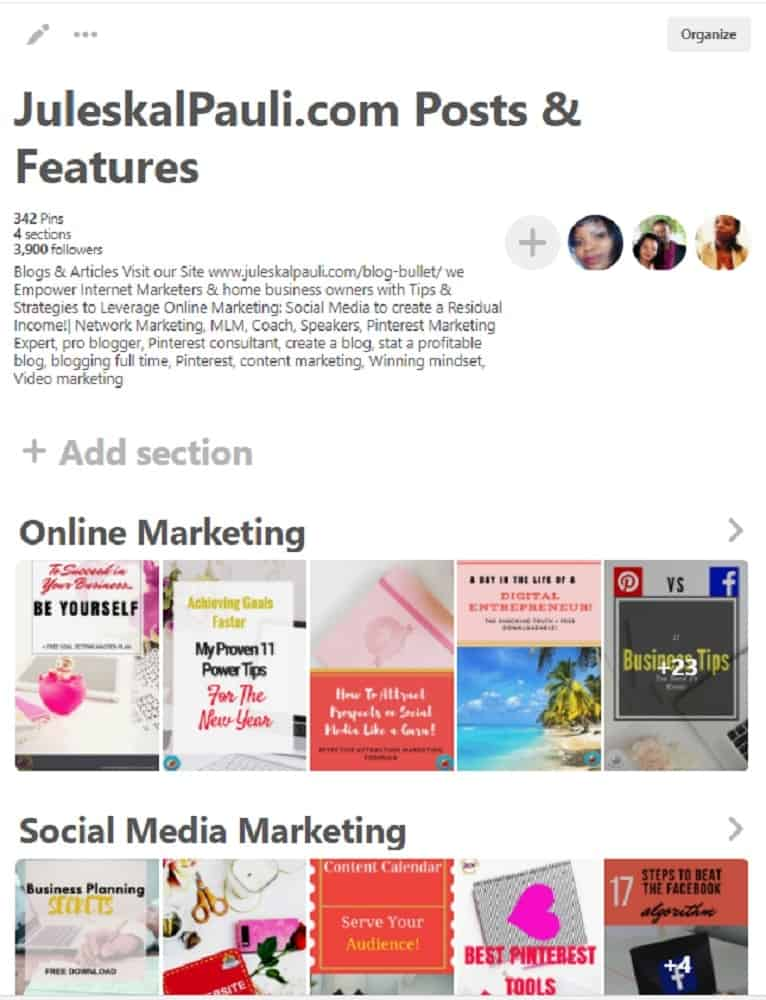 pinterest sections, pinterest board sections, pinterest marketing, pinterest tips, how to use pinterest section, why pinterest sections, why use pinterest board sections