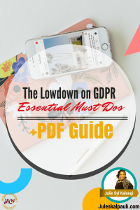 The Low down on GDPR