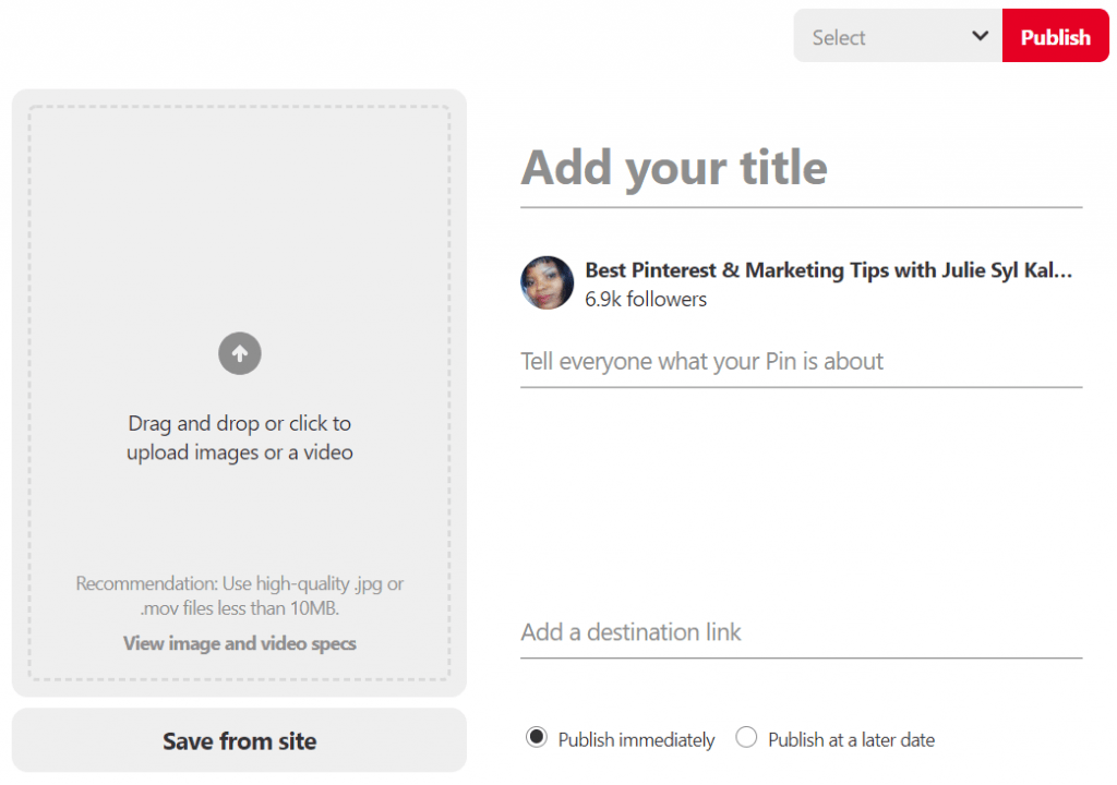 Pinterest Video, How to Upload and schedule it to your Boards