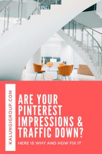 Pinterest Impressions and Traffic