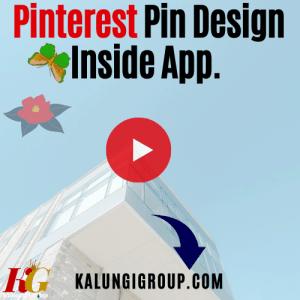 Design Pin Inside Pinterest App