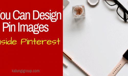Design Pins Inside Pinterest App