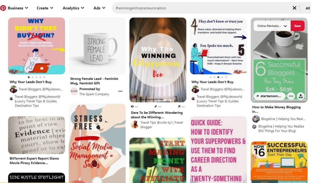 are hashtags effective on pinterest