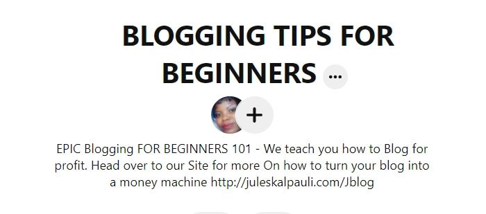 Pinterest SEO_Blogging for beginners board